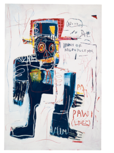 Jean-michel Basquiat - Irony of a negro policeman