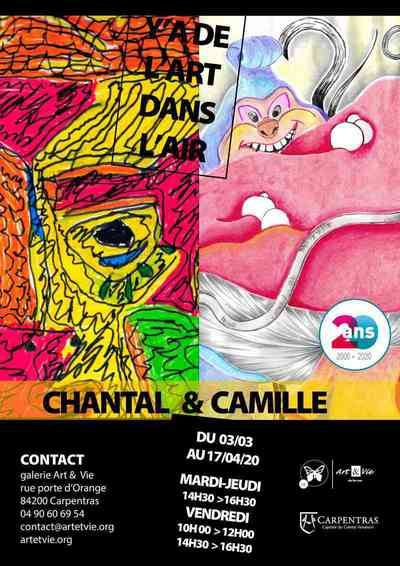 Exposition Chantal Challon et Camille Guzian